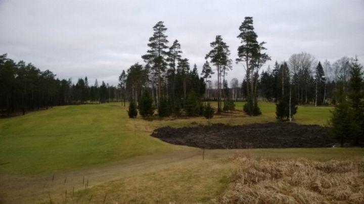 Kutosväylällä oikealle karkaavien pallojen löytyminen helpottuu, kun alueesta muokataan talven ja alkukauden aikana kumpuileva ruohoalue
