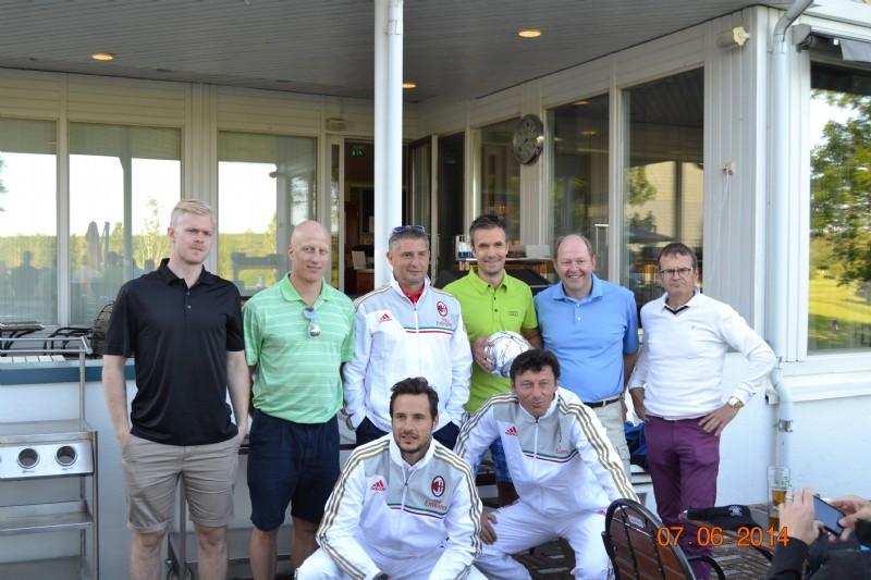 Kuvassa Ville Lajunen, Toni Kähkönen, Daniele Massaro, Carlo Cudicini sekä Stefano Nava